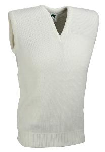 Men's White V-neck Slipover