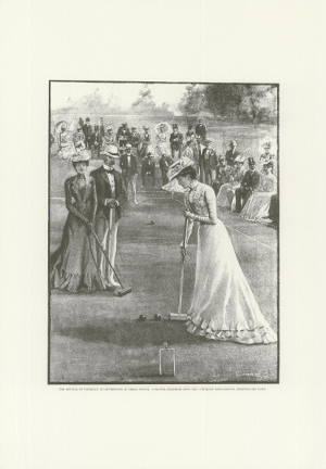 Historical Print – The Revival of Croquet