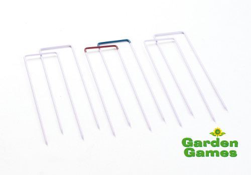 Lawn Croquet Hoops - Garden Games - Set of 6