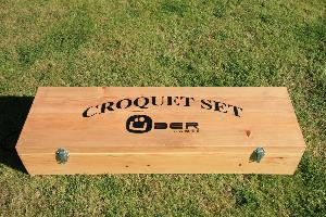 Wooden Croquet Set Box - Ubergames
